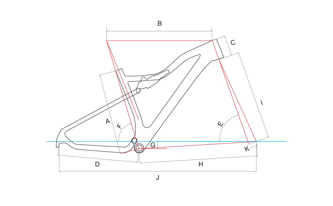 Audax FS 900X - geometria do quadro