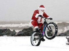 Presente de Natal para um ciclista