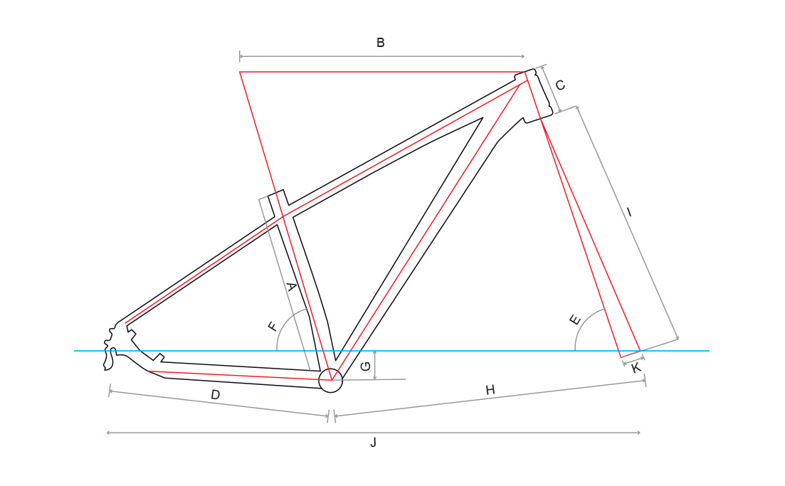 Audax Auge 700 - Geometria Quadro