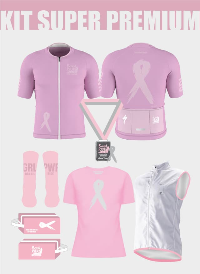 Brasil Ride - Desafio Virtual Outubro Rosa - Kit Super Premium