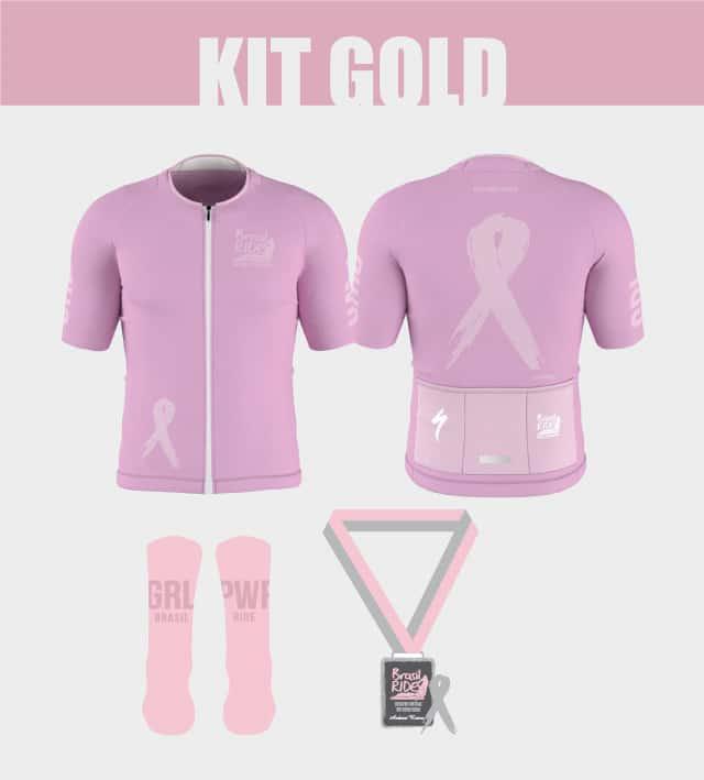 Brasil Ride - Desafio Virtual Outubro Rosa - Kit Gold