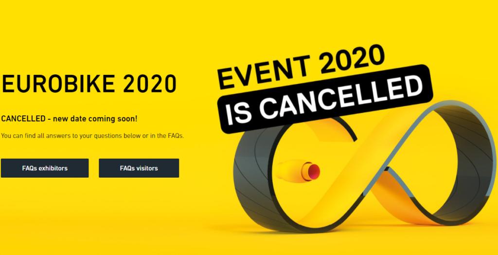 Eurobike 2020 é cancelada por causa da Covid-19