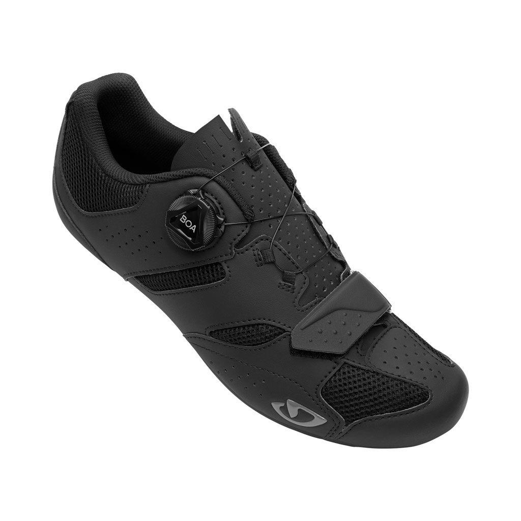 Sapatilhas preta Giro Savix II compatível com pedais de bicicleta de estrada e MTB