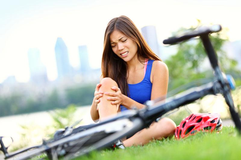 Previna-se lesões bicicleta queda